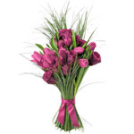 Pink Roses and Tulips Bouquet