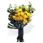 Premium Yellow Roses Bouquet